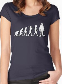 Evolution Scuba Diver by Stencil8 Women's Fitted Scoop T-Shirt