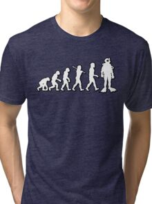 Evolution Scuba Diver by Stencil8 Tri-blend T-Shirt