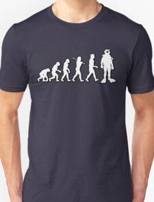 Evolution Scuba Diver by Stencil8 T-Shirt