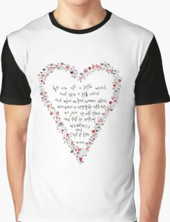 Dr Seuss inspired quote, Love is Weird, Valentines Graphic T-Shirt