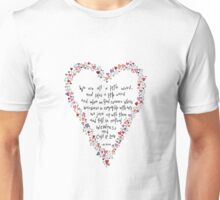 Dr Seuss inspired quote, Love is Weird, Valentines Unisex T-Shirt