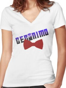 geromino doctro who Women's Fitted V-Neck T-Shirt