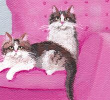 The Pink Chair Cats Sticker