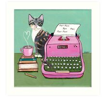 Love Note From The Cat Art Print