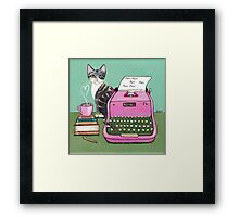 Love Note From The Cat Framed Print
