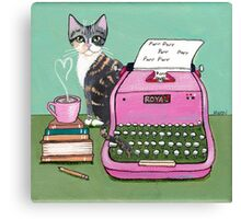 Love Note From The Cat Canvas Print