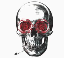 Skull with roses and a cigarette  by RolandoR