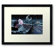 My Mind Is Glowing Framed Print