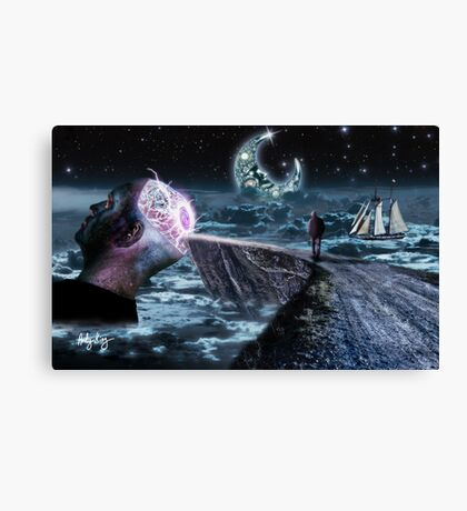 My Mind Is Glowing Canvas Print