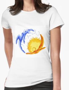 Sun and Moon #2 Womens Fitted T-Shirt