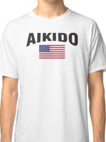 Aikido United States Flag Classic T-Shirt