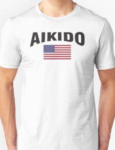 Aikido United States Flag Unisex T-Shirt
