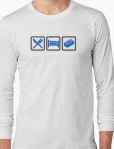 Eat Sleep Lego Long Sleeve T-Shirt