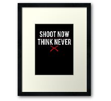 Ash Vs. Evil Dead - Shoot Now, Think Never - White Clean Framed Print
