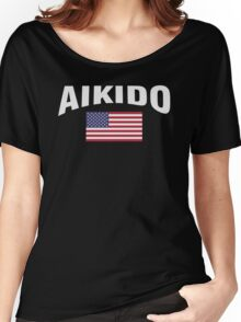 Aikido United States Flag Women's Relaxed Fit T-Shirt