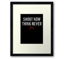 Ash Vs. Evil Dead - Shoot Now, Think Never - White Dirty Framed Print