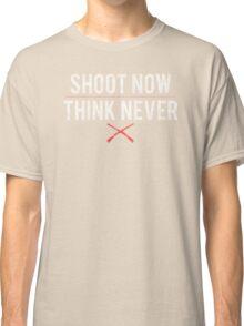 Ash Vs. Evil Dead - Shoot Now, Think Never - White Dirty Classic T-Shirt
