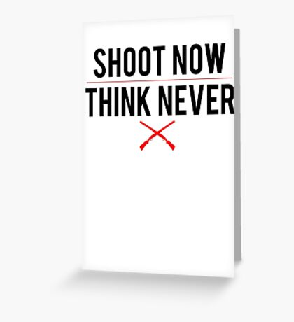 Ash Vs. Evil Dead - Shoot Now, Think Never - Black Clean Greeting Card