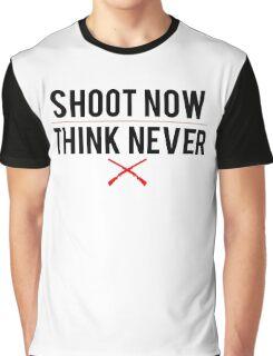 Ash Vs. Evil Dead - Shoot Now, Think Never - Black Clean Graphic T-Shirt