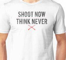 Ash Vs. Evil Dead - Shoot Now, Think Never - Black Dirty Unisex T-Shirt