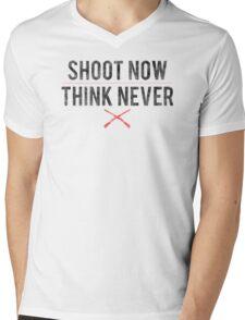 Ash Vs. Evil Dead - Shoot Now, Think Never - Black Dirty Mens V-Neck T-Shirt