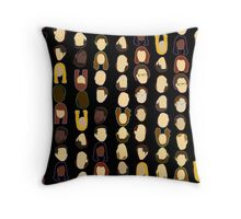 The Office Heads - Black Background Throw Pillow