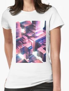 Retro Shapes Womens Fitted T-Shirt
