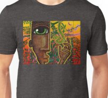 man and snake (rectangle) Unisex T-Shirt