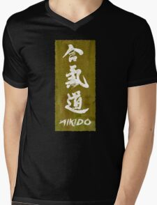 Aikido Mens V-Neck T-Shirt
