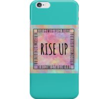 Right hand man // Rise up! iPhone Case/Skin
