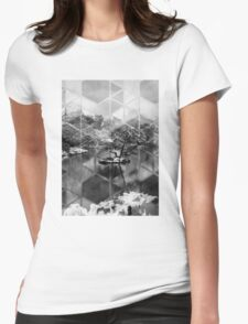 Winter Japanese Lake Womens Fitted T-Shirt