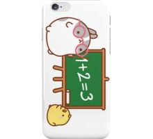 kawaii molang bunny teaching piu piu iPhone Case/Skin
