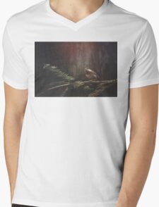 Chickadee in the Redwoods Mens V-Neck T-Shirt