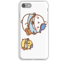 kawaii molang bunny off to school iPhone Case/Skin