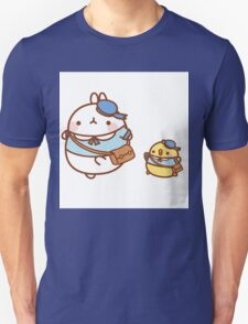 kawaii molang bunny off to school Unisex T-Shirt