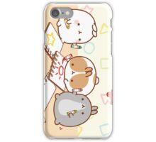 kawaii molang bunny school iPhone Case/Skin