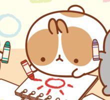 kawaii molang bunny school Sticker