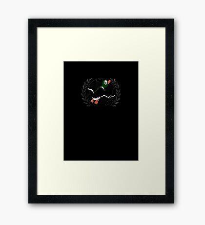 Duck Hunt - Sprite Badge Framed Print