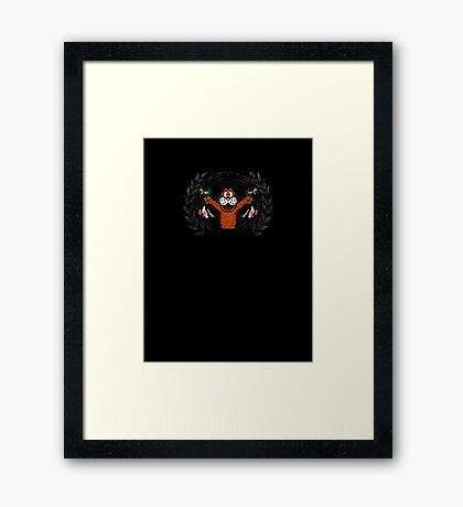Duck Hunt - Sprite Badge 2 Framed Print