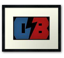 DB black Framed Print