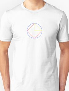 Yellow Triangle Red Square Blue Circle T-Shirt