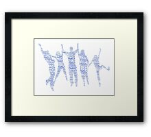 Forever Family Fun - Blue  Framed Print