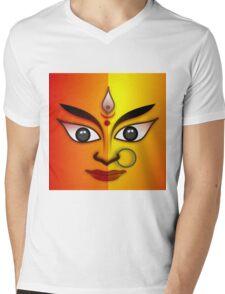 DURGA-3 Mens V-Neck T-Shirt
