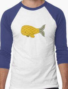 Pineapple Whale Men's Baseball ¾ T-Shirt