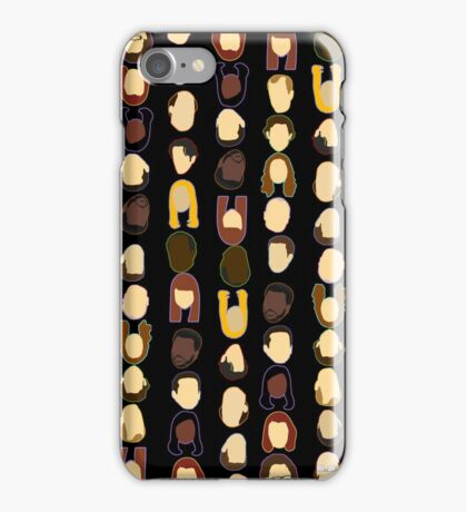 The Office Heads - Black Background iPhone Case/Skin