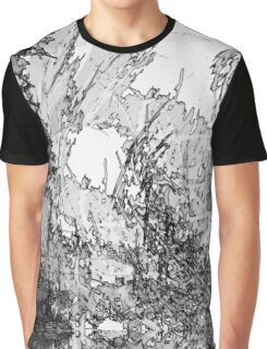 Edgy Black and White Graphic T-Shirt