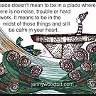 Peace quoted art by Jenny Wood