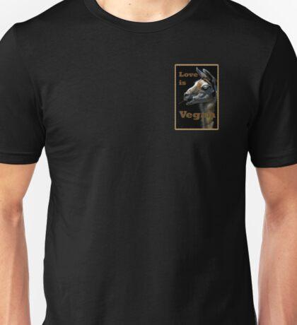 Love is Vegan 2 Unisex T-Shirt
