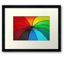 Jenny Rainbow Umbrella. Color your Day Framed Print