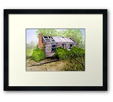 Old Ruined Cottage in Coleraine Watercolour Painting Framed Print